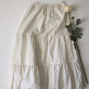 White Flowered Skirt Undergarment